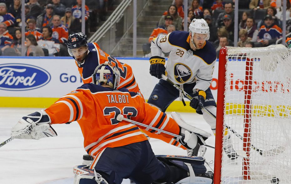 Sabres forward Zemgus Girgensons scored as part of a four-goal onslaught during the second period Monday. (USA Today Sports)
