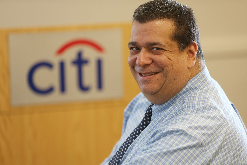 Anthony Vazquez, Citi's site head in Getzville. (Derek Gee/Buffalo News)