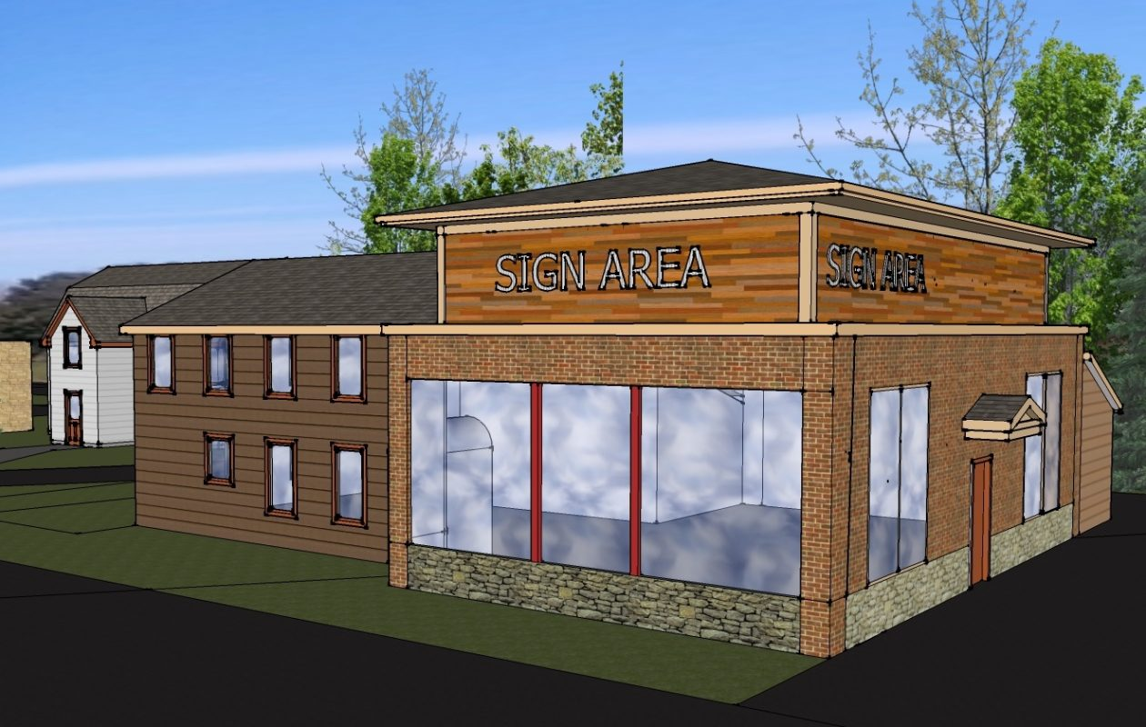 Artist rendering of the future chicken shack. (Tom Pease)