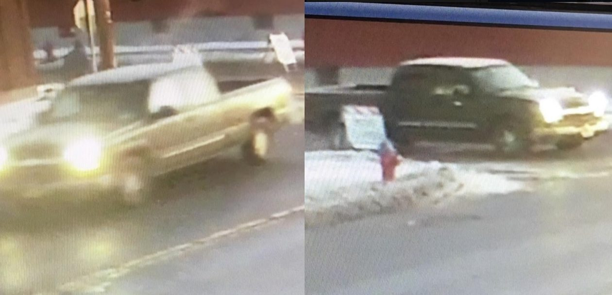 Police are looking for the driver of this pickup who they say offered candy to an 11-year-old girl waiting at a bus stop.  (Courtesy Buffalo Police)