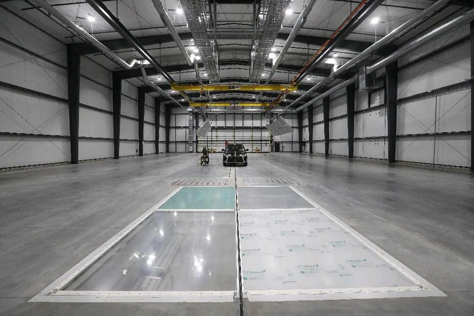 Calspan's new crash lab in Cheektowaga. (Mark Mulville/Buffalo News)