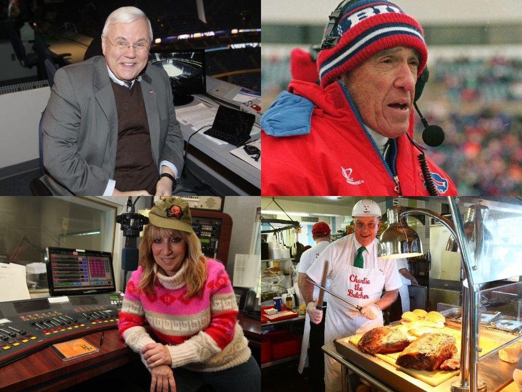 Clockwise from top left: Pete Weber, Marv Levy, Anita West and Charlie Roesch.