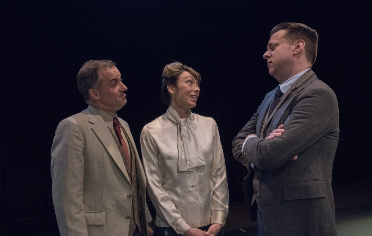 Jon May, left, appears with Kate LoConti and Eric Rawski in 'The Constant Wife' at the Irish Classical Theatre Company.