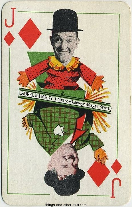 Laurel and Hardy 1933 Thomas De La Rue Jack of Diamonds.