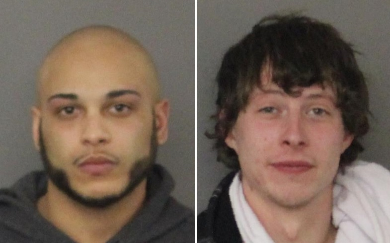 Jordan Kujawa, 25, left, and Dylan Anzalone-Rosario, 24, were arrested Thursday. (Photos courtesy State Police)
