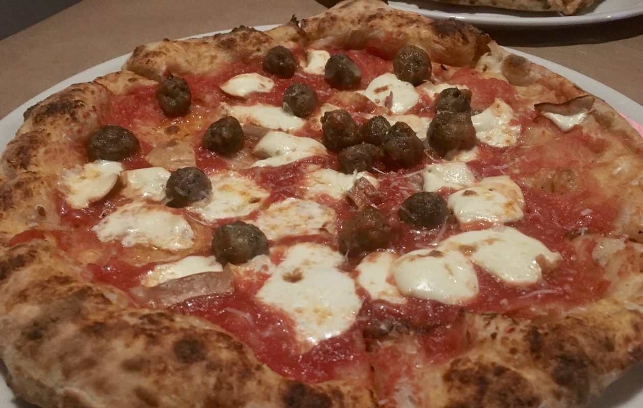 old smokey topped with miniature Mullberry meatballs and a creamy smoked mozzarella (Phil Wagner/Special to The News)
