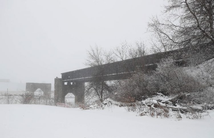 This bridge would be the end of a proposed 'High Line' along the old DL&W railroad corridor that would begin downtown. (Sharon Cantillon/Buffalo News)
