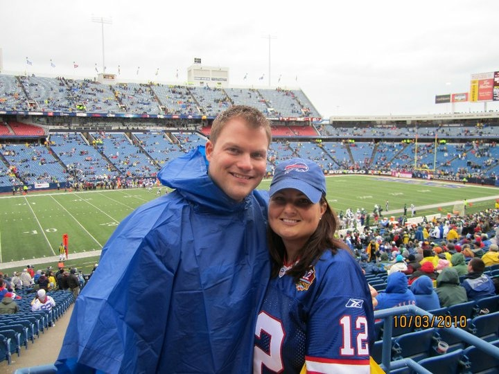 Kevin Forrest and his wife, Sunny, attended the Bills game against the New York Jets in October 2010 in Orchard Park. (Photo courtesy of Kevin Forrest)