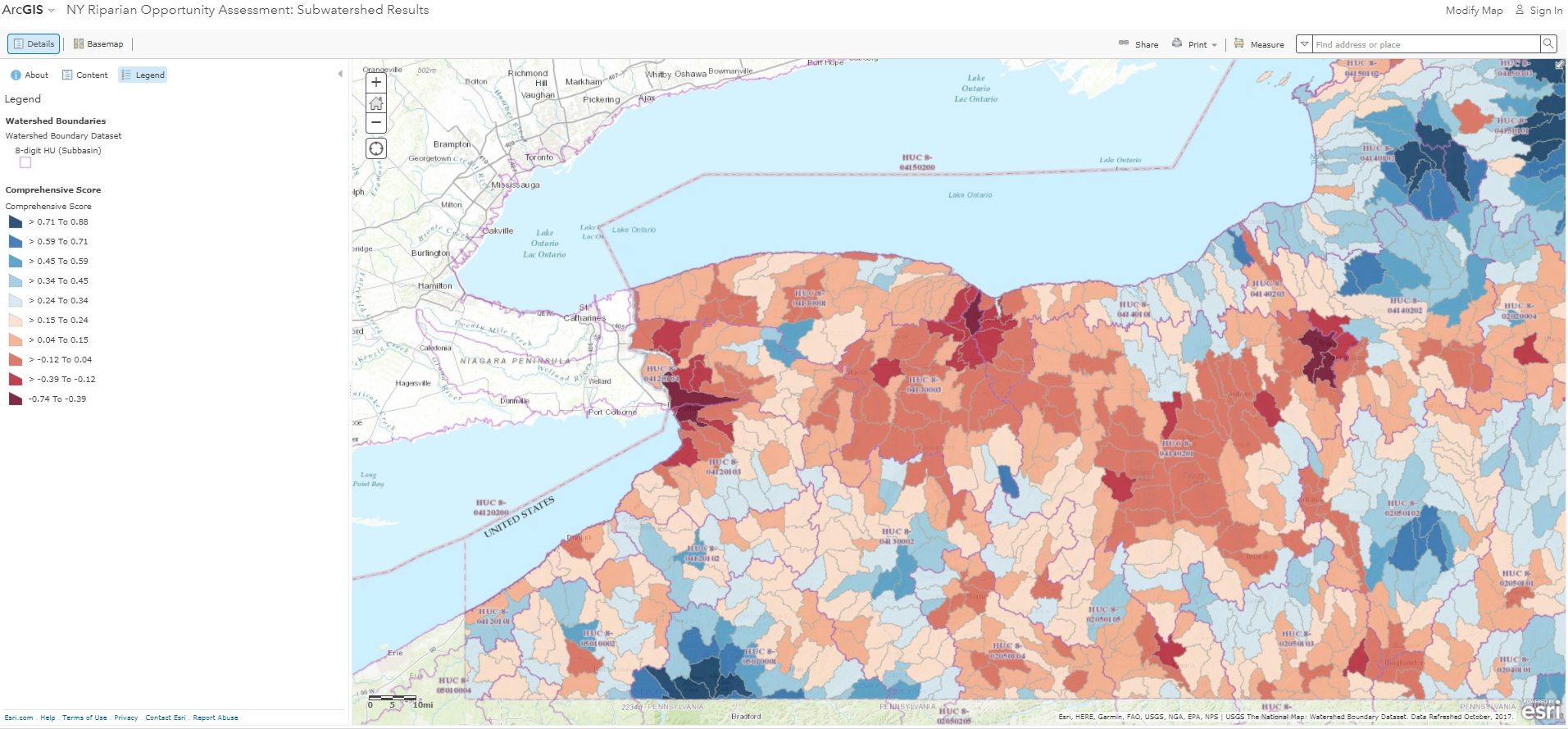 Impervious Surfaces Map Buffalo New York on
