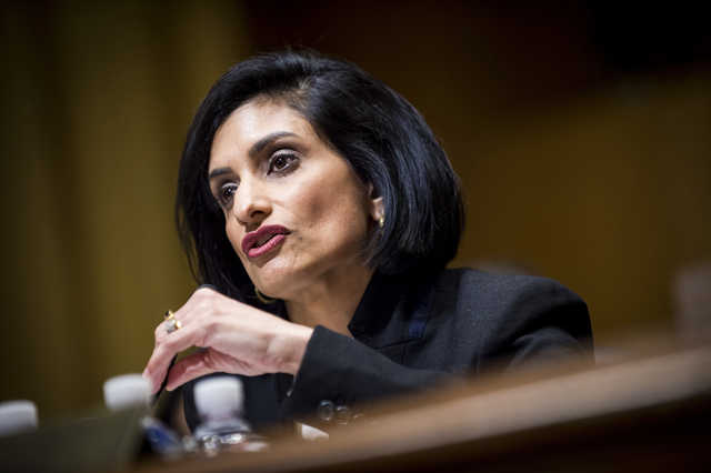 """On the day in March when she was sworn in as administrator of the Centers for Medicare and Medicaid Services, Seema Verma dispatched a letter to governors encouraging """"innovations that build on the human dignity that comes with training, employment and independence."""" Bloomberg photo by Pete Marovich)"""