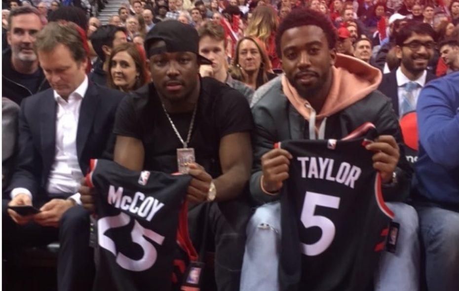 quality design f0875 e8a39 LeSean McCoy, Tyrod Taylor get jerseys from Toronto Raptors ...