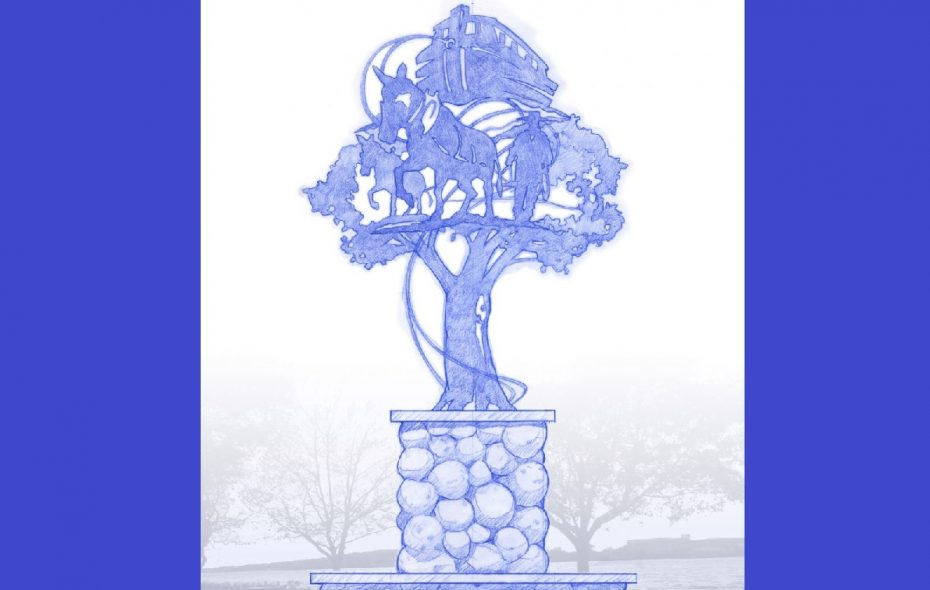 "A rendering of the planned ""The Canal Remembered"" sculpture, which the City of Tonawanda plans to erect in Niawanda Park. (Provided by Henry J. Schmidt)"