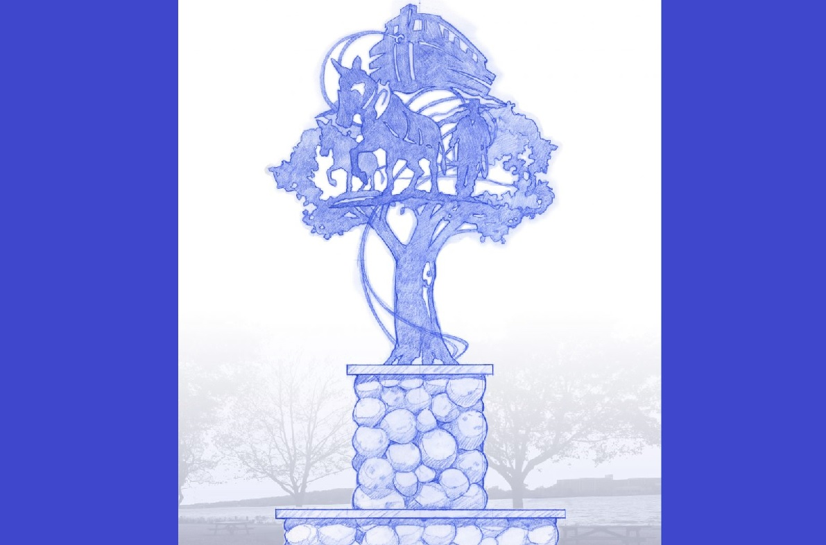 A rendering of the planned 'The Canal Remembered' sculpture, which the City of Tonawanda plans to erect in Niawanda Park. (Provided by Henry J. Schmidt)