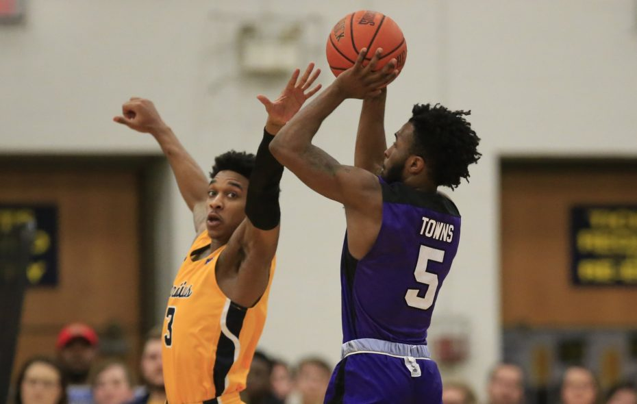 James Towns scored 11 points for Niagara on Wednesday against Canisius in the Battle of the Bridge at the Gallagher Center. (Harry Scull Jr./News file photo)