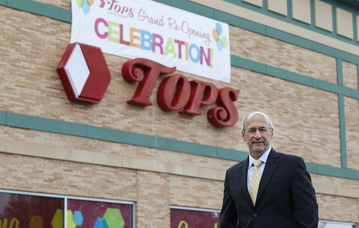 Tops Chairman and CEO Frank Curci outside a newly renovated East Aurora store in 2015. (Mark Mulville/News file photo)