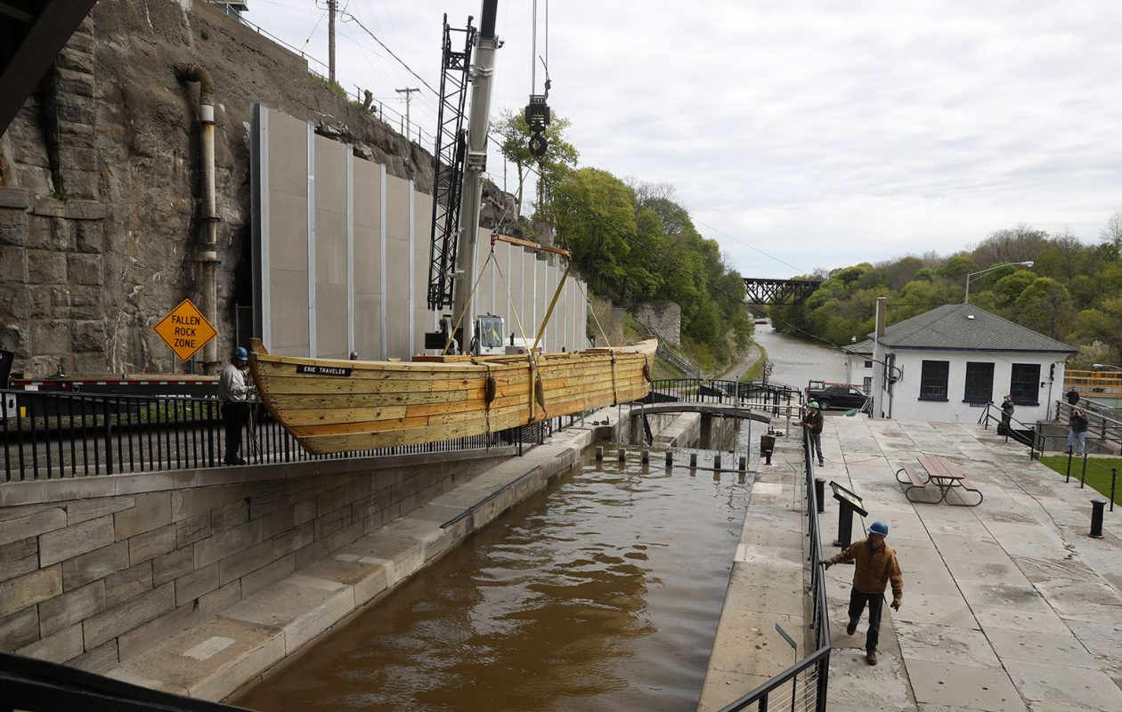 The Flight of Five locks in the Erie Canal in Lockport. (John Hickey/News file photo)