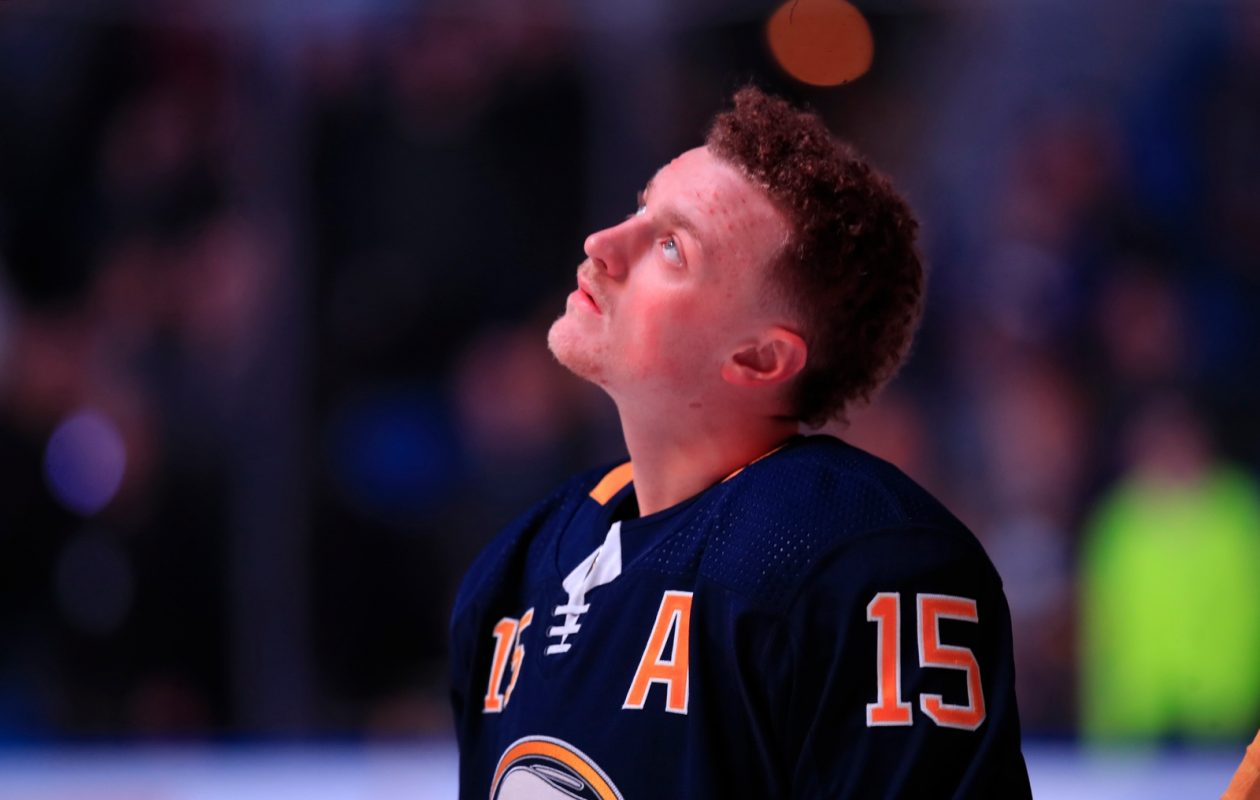 Sabres center Jack Eichel looks up to Patriots quarterback Tom Brady and his commitment to winning. (Harry Scull Jr./Buffalo News)