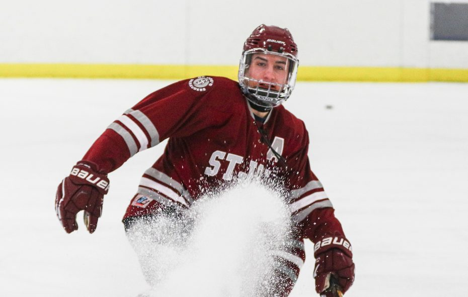 St. Joe's player Shane Scheeler kept in shape while healing from  serious tendons and an artery injury and is set to return to the lineup Monday. (James P. McCoy/Buffalo News)