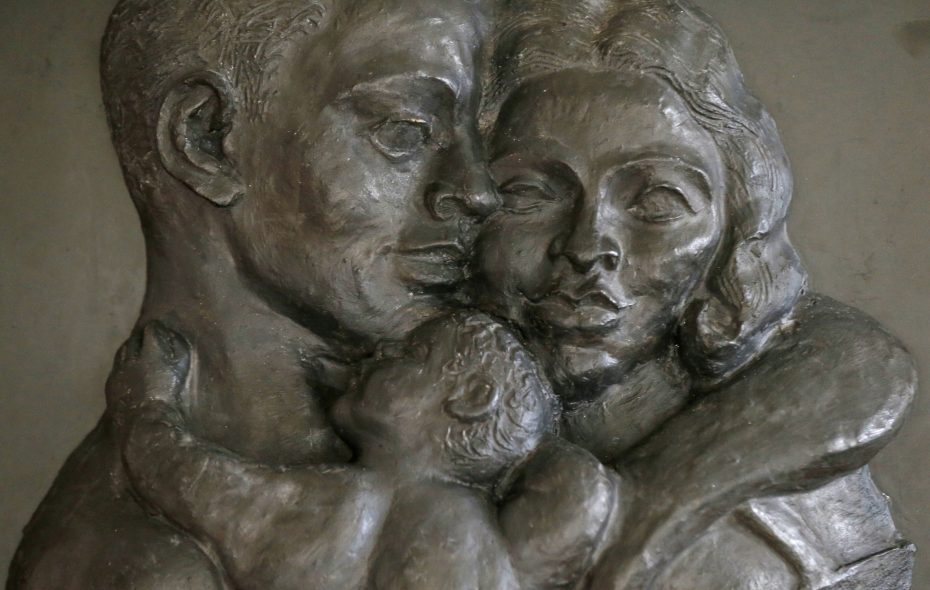The Selma Burke relief sculpture, owned by Ellen Grant, that was restored after being shattered during shipment from Manhattan. (Robert Kirkham/Buffalo News)