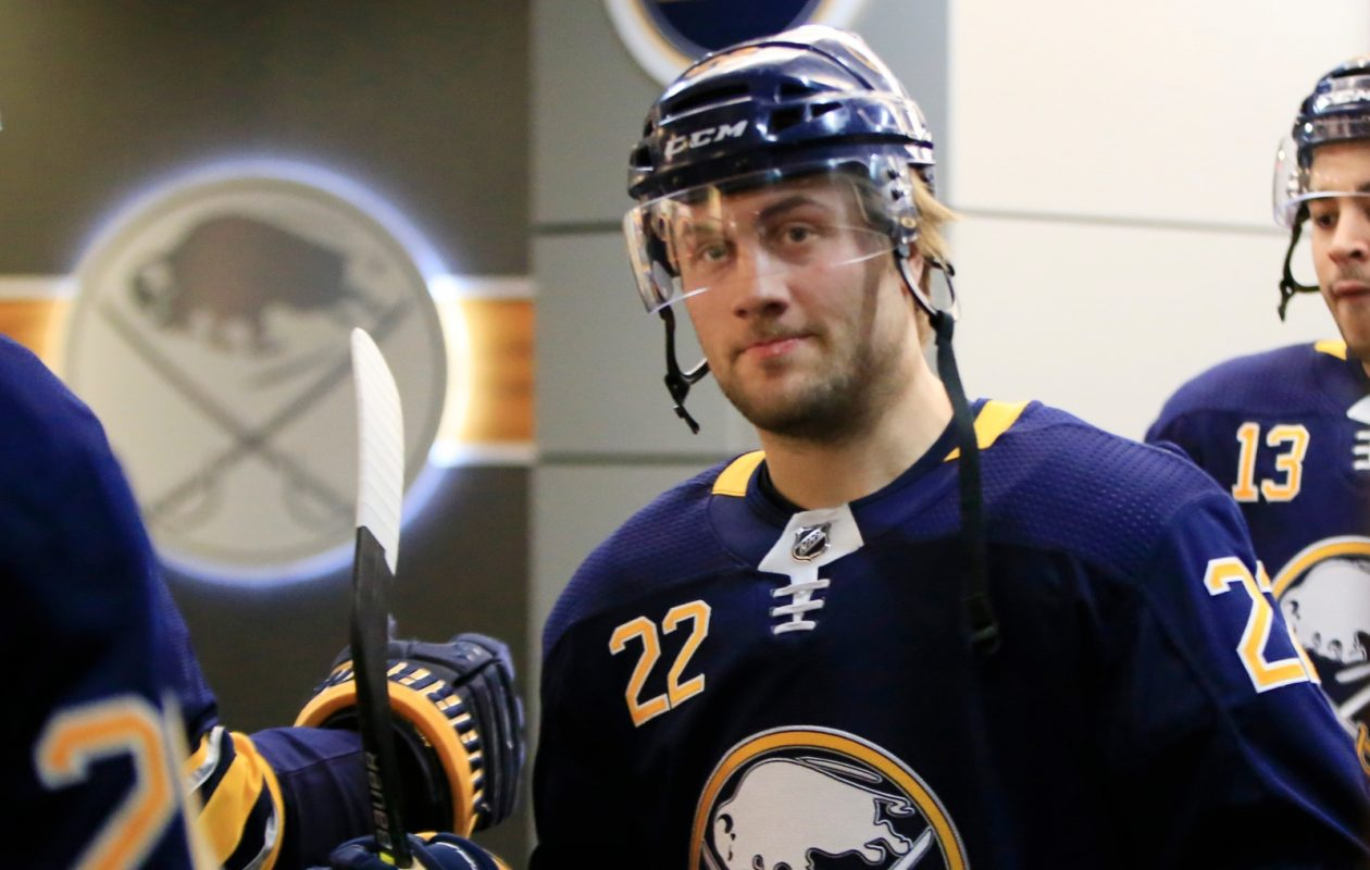 This is the first disciplinary action against the Sabres' Johan Larsson. (Harry Scull Jr./Buffalo News)