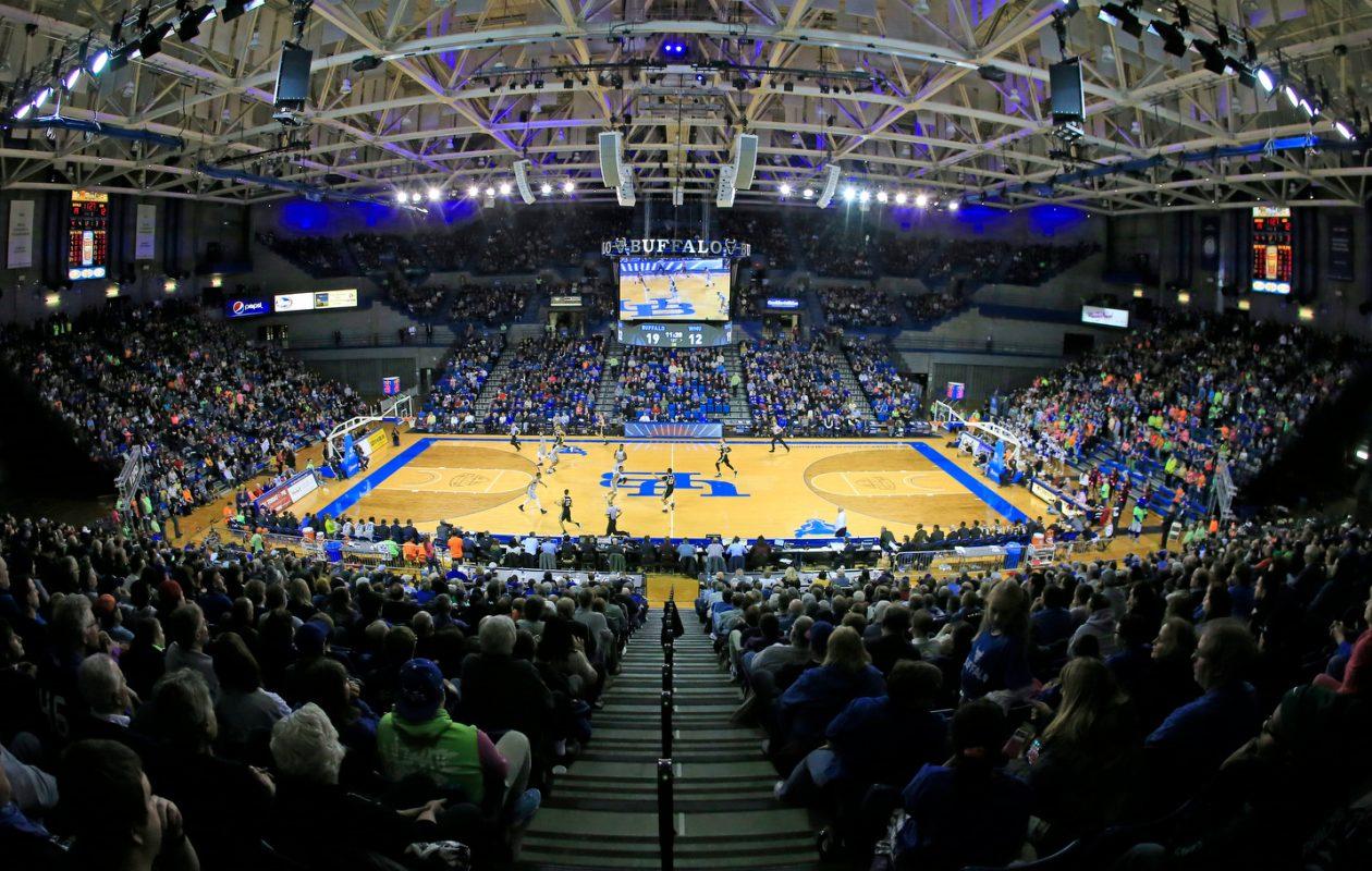 UB had a crowd of 6,670 at Alumni Arena Friday. (Harry Scull Jr./ Buffalo News)