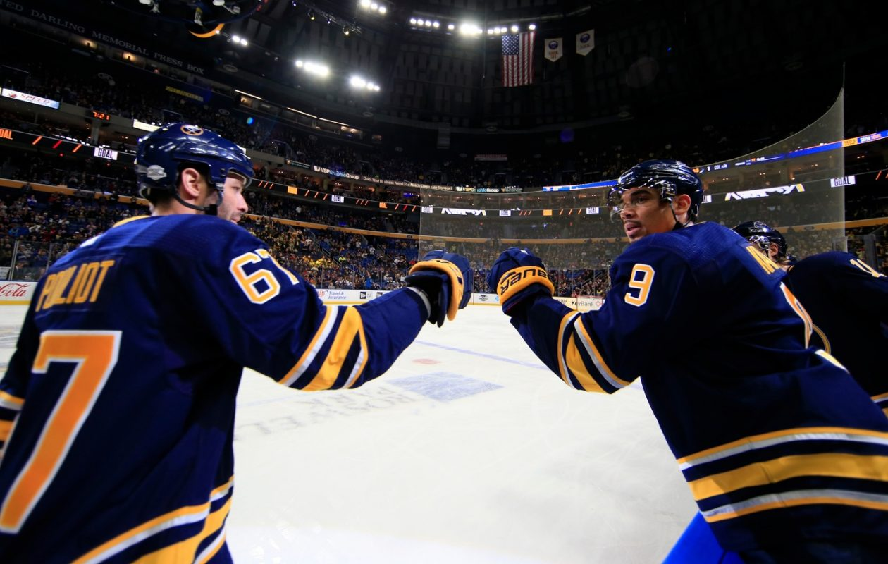 The Sabres' Benoit Pouliot and Evander Kane have both scored in the past two games. (Harry Scull Jr./Buffalo News)