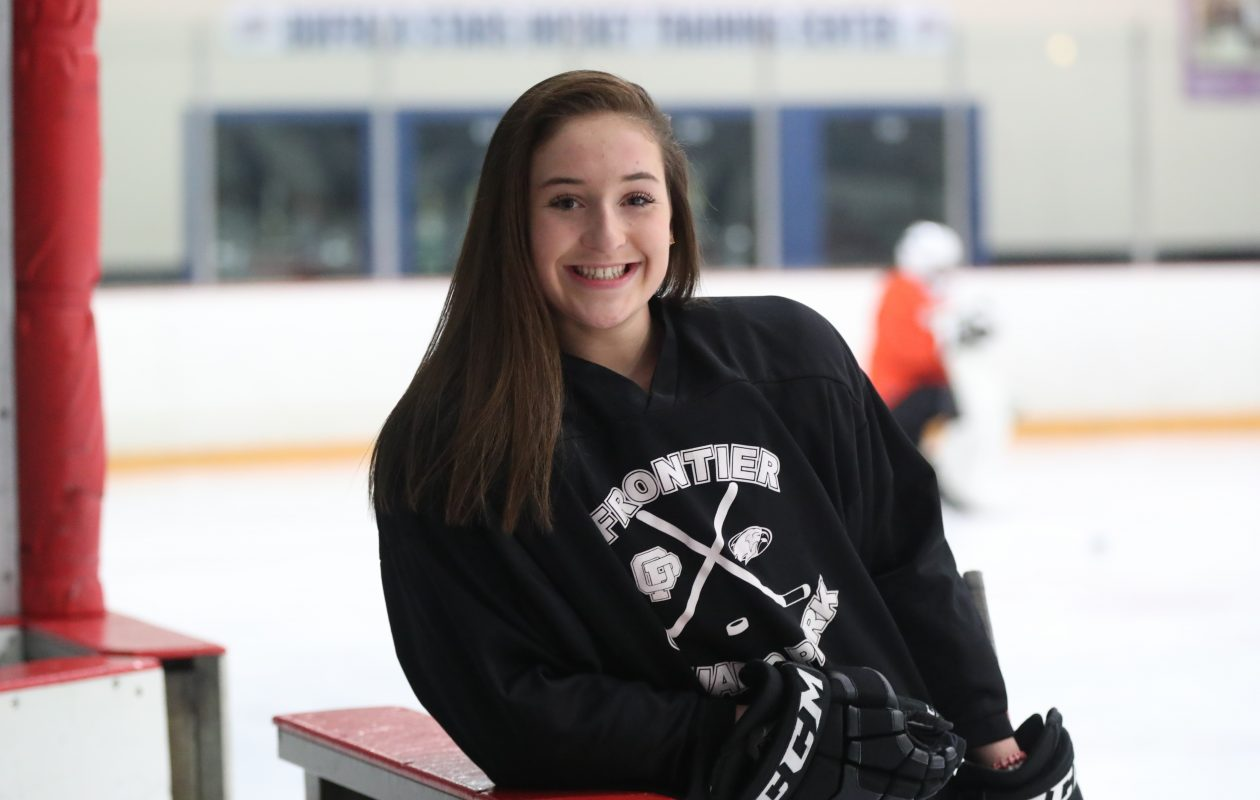 Brooke Becker of FLOP is one of the top Federation hockey players in the country. (James P. McCoy / Buffalo News)