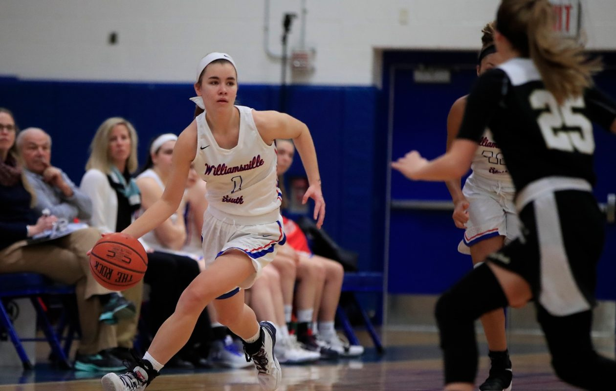 Hannah Dolan and the Williamsville South girls basketball team are the overwhelming favorites in the Section VI Class A-1 playoffs. (Harry Scull Jr./Buffalo News)