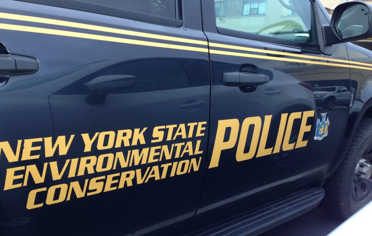 DEC Police charged two men with shooting a deer out of a pickup truck in late January. (T.J. Pignataro/Buffalo News)