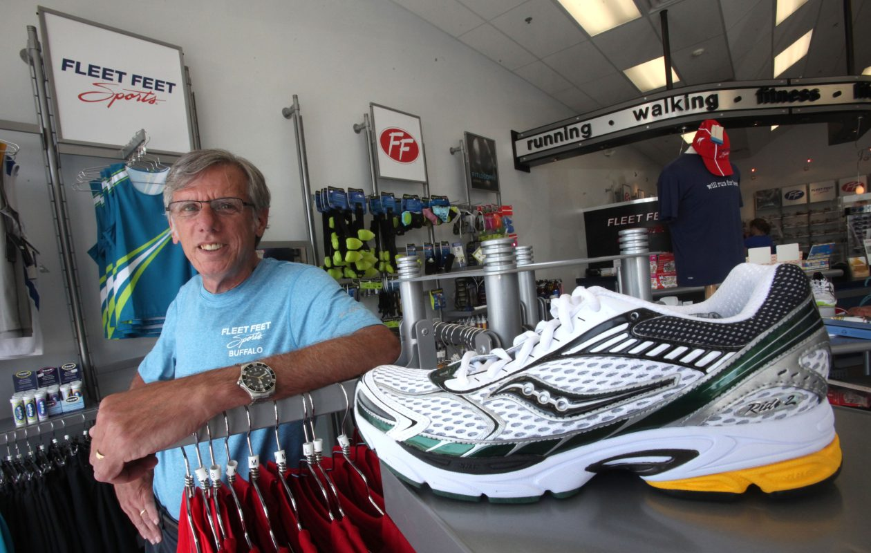 Dan Loncto, former owner of Fleet Feet, oversaw the rampant growth of Buffalo's Corporate Challenge.  {Robert Kirkham/Buffalo News file photo}