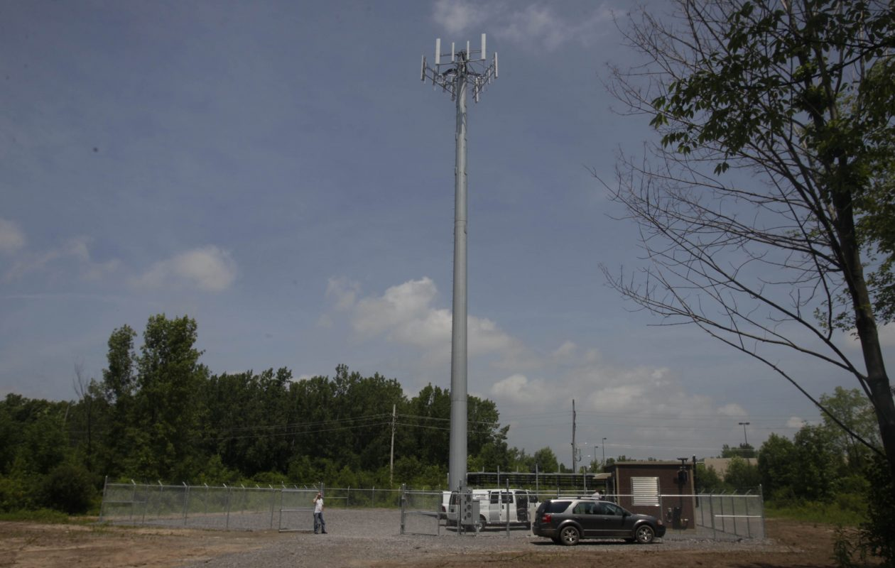 Another cell tower on South Transit Road in Lockport. (John Hickey/Buffalo News)