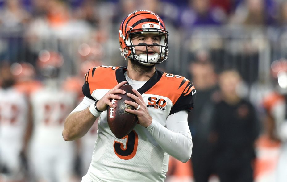 Former Bengals quarterback AJ McCarron signed a free-agent contract with the Bills. (Getty Images)