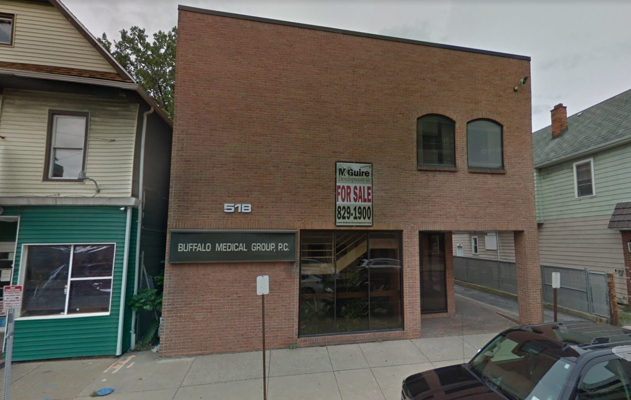 Buffalo Medical Group sold this building at 518 Abbott Road to Mercy Hospital of Buffalo.
