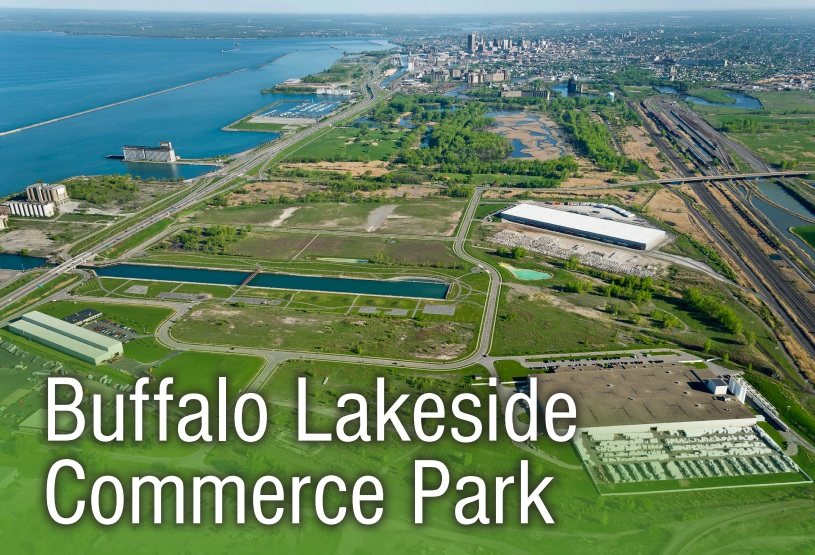 An image of the Buffalo Lakeside Commerce Park, from a Buffalo Urban Development Corp. marketing brochure.