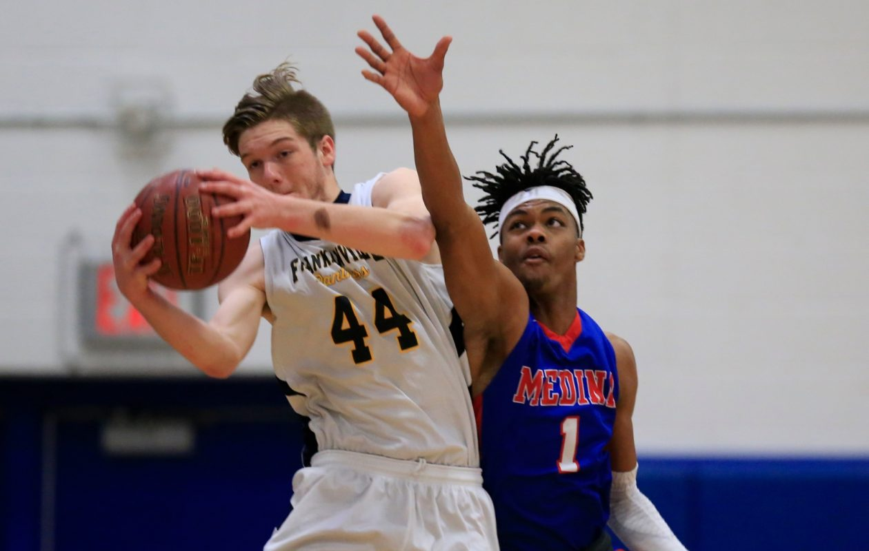 Coin flips resulted in Dylan Burton and his Franklinville teammates and Jalin Cooper and Medina each earning No. 3 seeds in their respective playoff brackets. (Harry Scull Jr./Buffalo News)