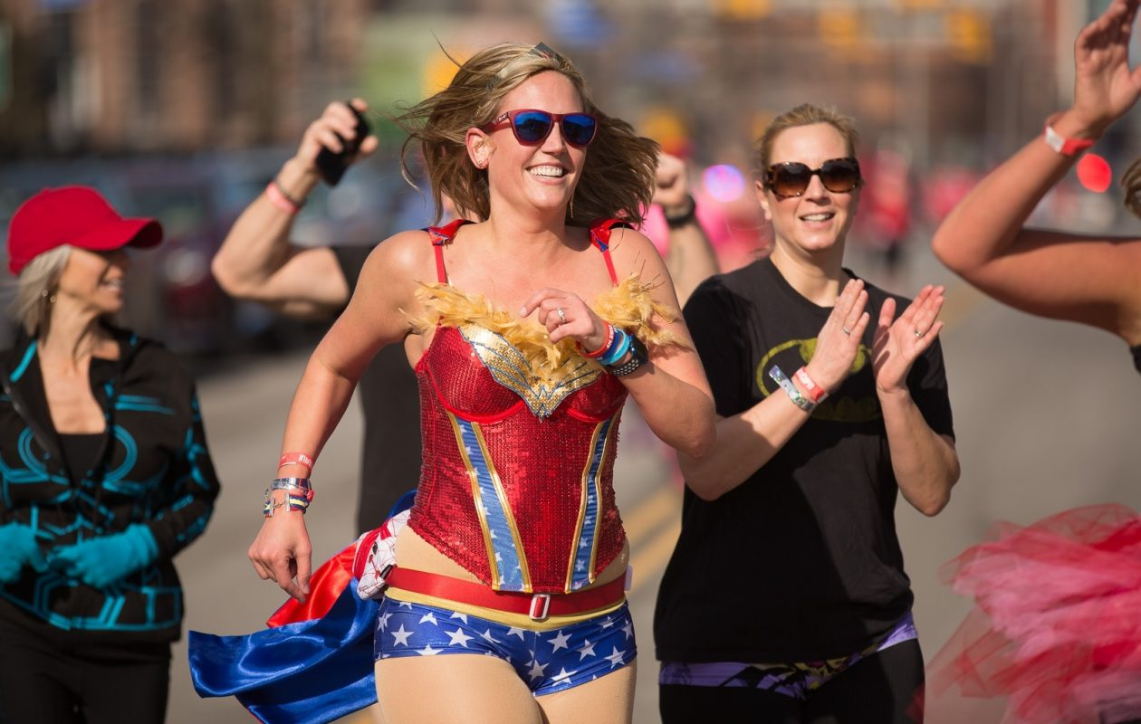 Don't expect to be 2018's version of Cupid's Undie Run to be quite as balmy as last year's event, but it should still be a charitably good time. (Chuck Alaimo/Special to The News)