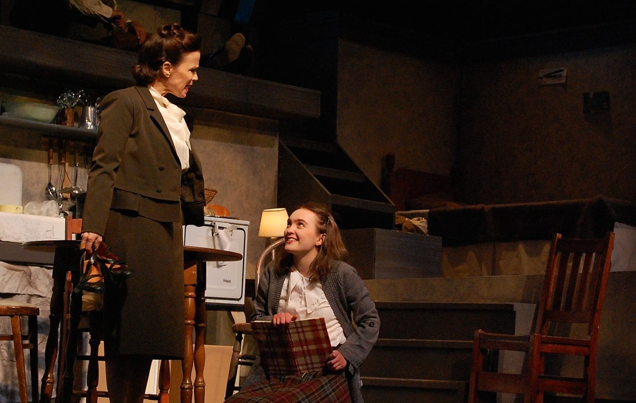 Josie DiVincenzo, left, appears with Mira Steuer in the Lancaster Opera House's production of 'Anne Frank's Diary.'