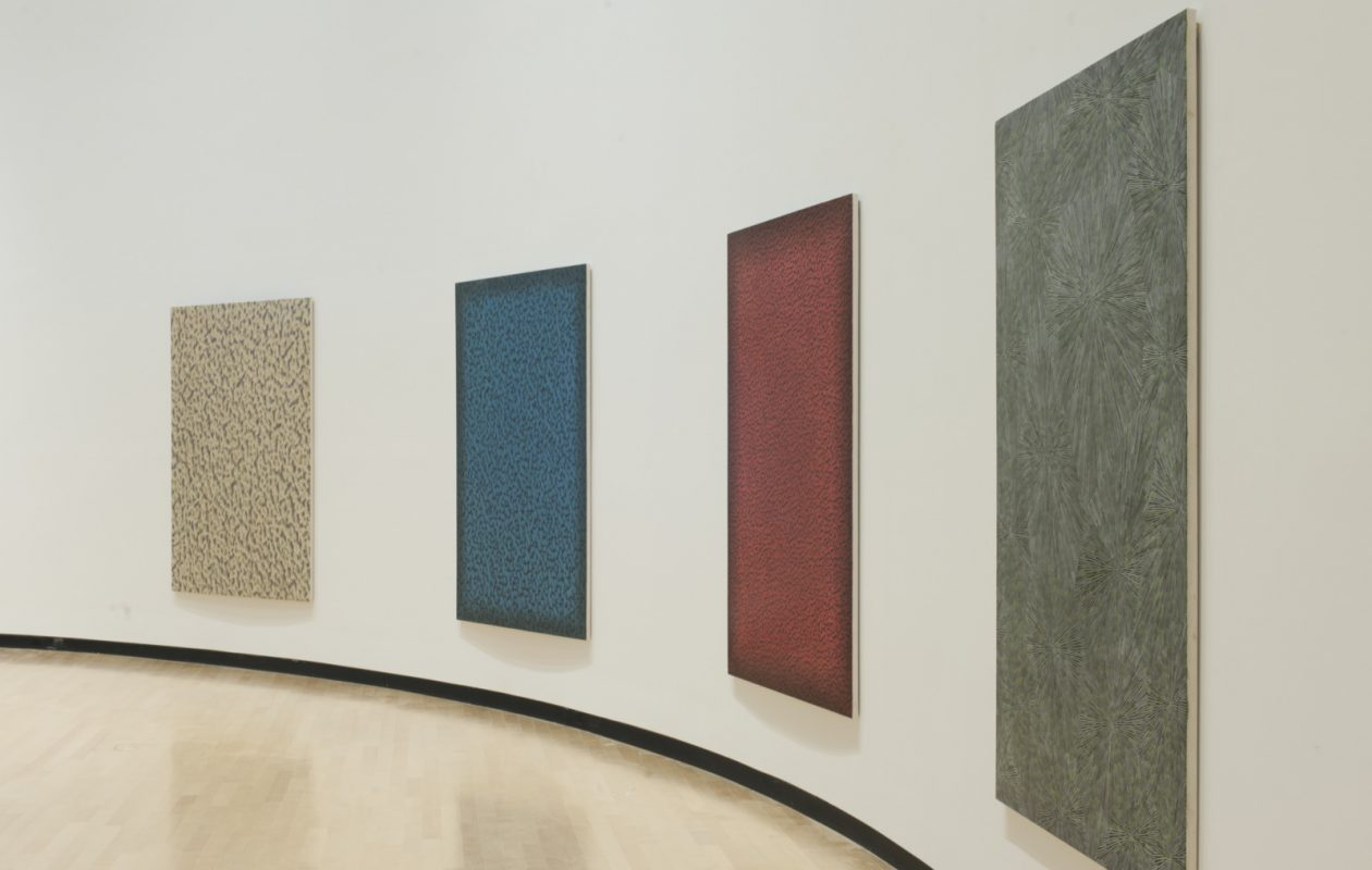 Work by Peter Stephens is on view in the Burchfield Penney Art Center's exhibition 'At This Time.'