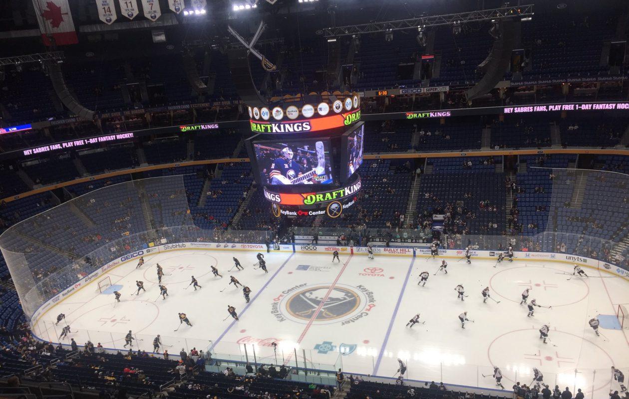 The Sabres face the Avalanche at KeyBank Center. (Mike Harrington/Buffalo News)