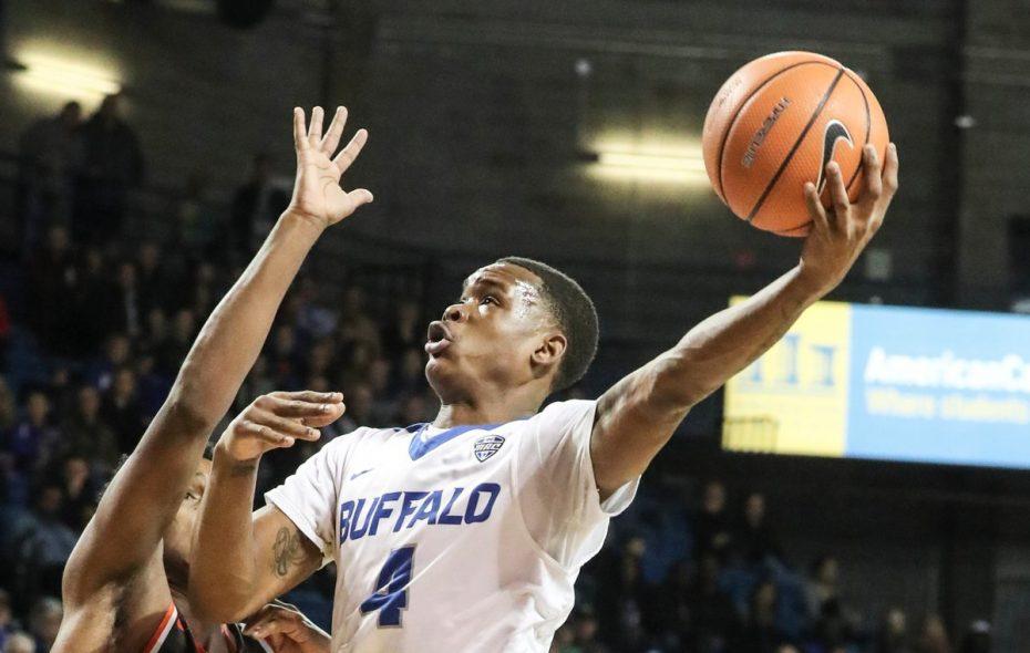 UB guard Davonta Jordan scored six points during a decisive 15-3 run Monday night against Southern Illinois.  (James P. McCoy / Buffalo News)