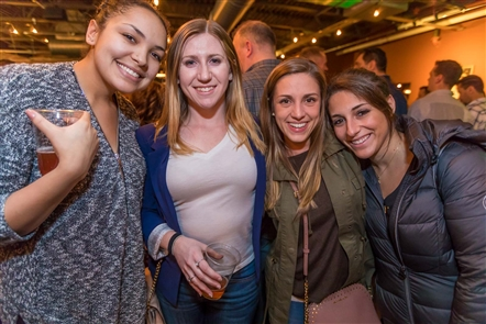 Smiles at Dueling Pianos in NY Beer Project
