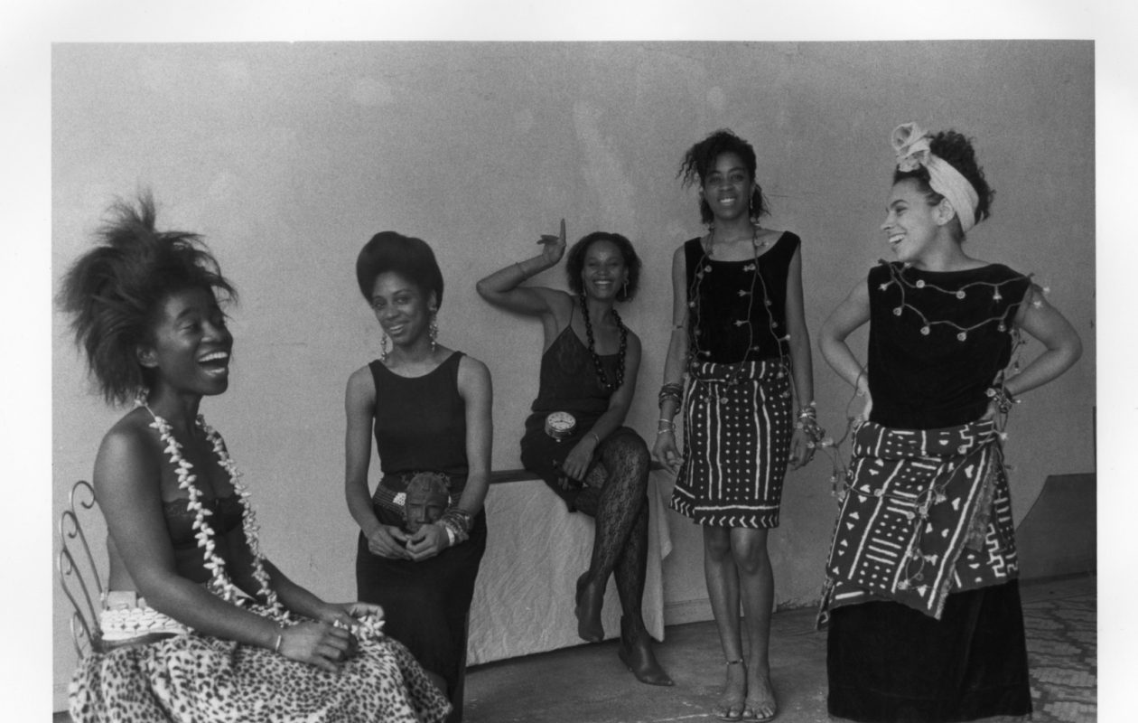 Lorna Simpson's 1986 photograph 'Rodeo California' is part of the Albright-Knox Art Gallery exhibition 'We Wanted a Revolution.' From left, are, Alva Rogers, Sandye Wilson, Candace Hamilton, Derin Young and Lisa Jones. (Photo courtesy of the artist and Hauser & Wirth)