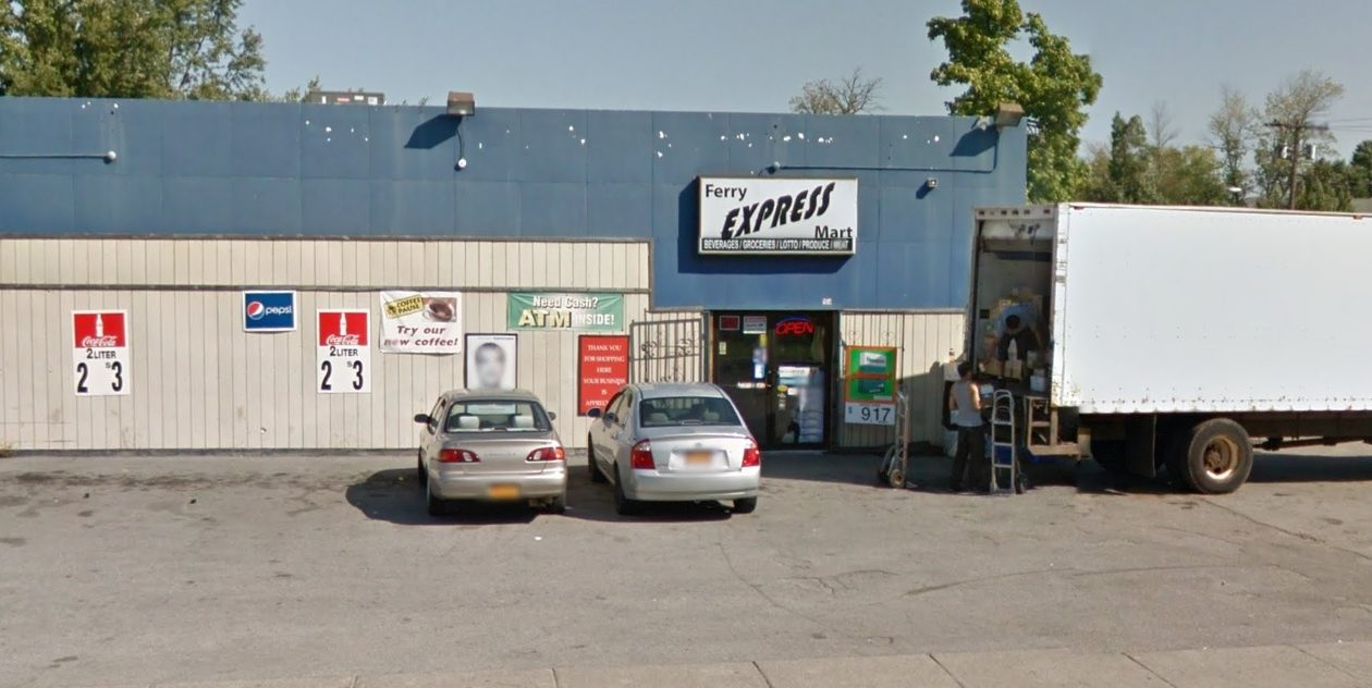 The Ferry Express Mart would be expanded into the Ferry Avenue Market.