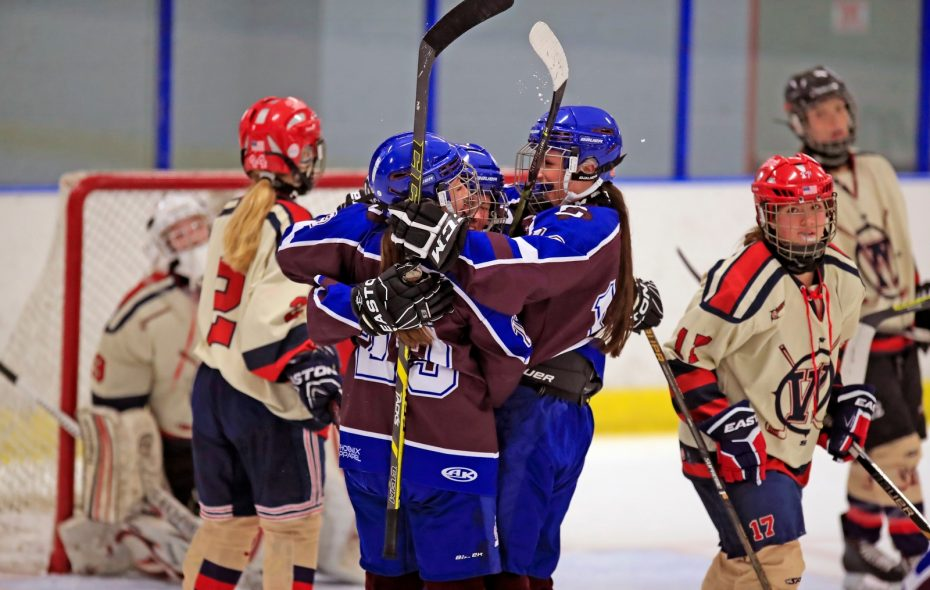 The Frontier/Lake Shore/Orchard Park girls hockey team takes on Clarence/Amherst/Sweet Home at HarborCenter Sunday for the WNY Federation title. (Harry Scull Jr./Buffalo News)