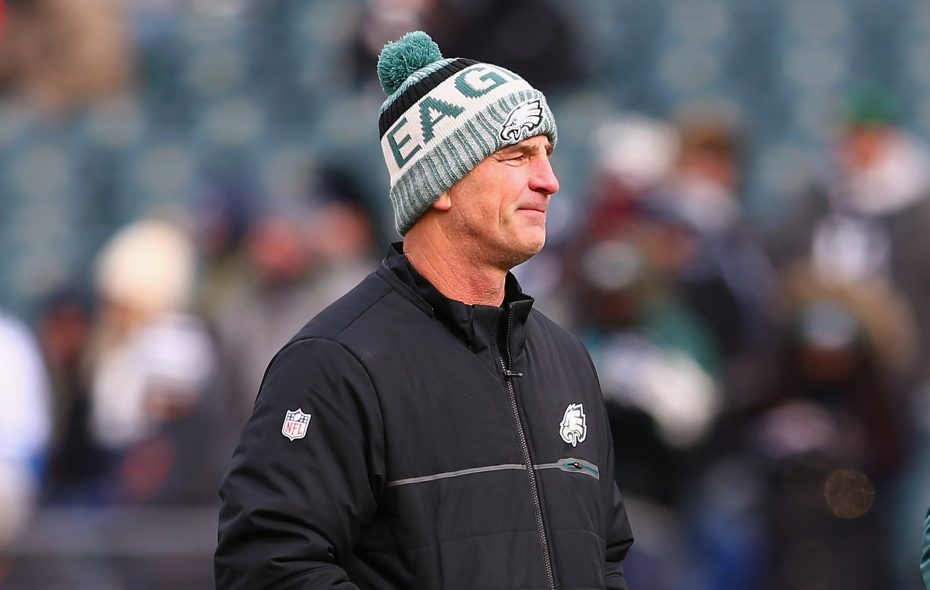 Frank Reich was offensive coordinator of the Super Bowl-champion Eagles before becoming Colts head coach. (Mitchell Leff/Getty Images)