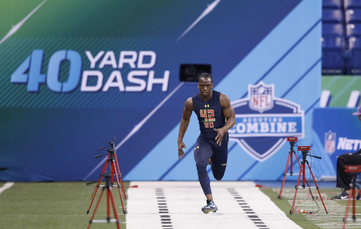 Bengals draft pick John Ross ran the fastest 40-yard dash at the NFL Scouting Combine. (Joe Robbins/Getty Images)