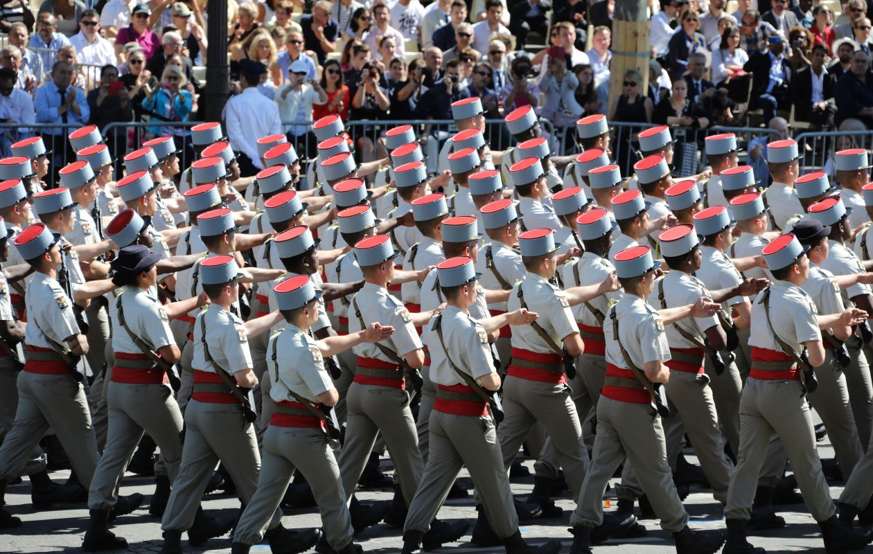 After witnessing France's Bastille Day parade last summer, President Trump has told the Pentagon he would like to see a similar military parade in Washington, D.C. ( LUDOVIC MARIN/AFP/Getty Images)
