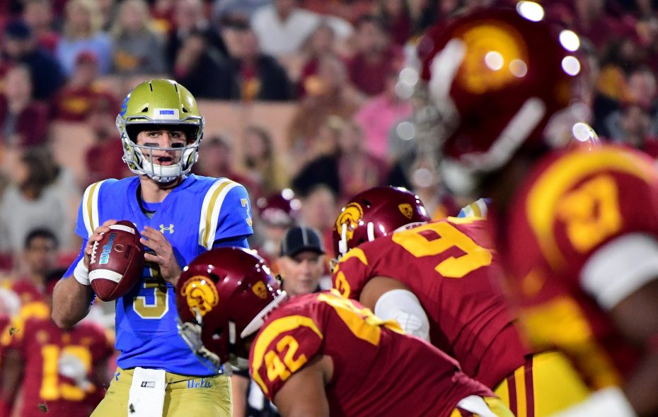 Josh Rosen of the UCLA Bruins intends to throw at the Scouting Combine per report (Harry How/Getty Images)