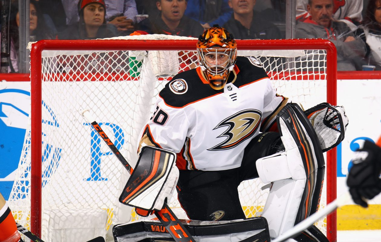 Anaheim's Ryan Miller has 364 career victories, including 284 with the Sabres. (Getty Images)