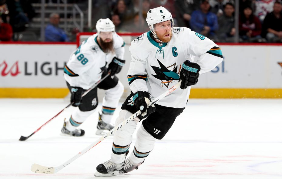 Sharks captain Joe Pavelski is impressed with his new linemate, Evander Kane. (Getty Images)